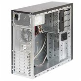 Корпус Foxconn Mid Tower ATX TLA-436 450W (FSP, 12cm fan, SATA), Airduct+2*USB2.0+Audio+Mic+Reset+80mm Fan, Черно-серебристый