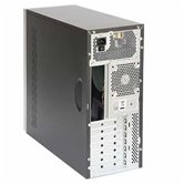 Корпус Foxconn Mid Tower ATX TLA-570a 450W (FSP, 12cm fan, SATA), Airduct+2*USB2.0+Audio+Mic+Reset+80mm Fan, Черно-серебристый