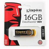 Накопитель Flash USB drive KINGSTON Data Traveler 16Gb RET yellow (желтый)  [DT101Y/16Gb]