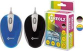 Мышь Kreolz JM-820K / MC820sbl  optical, mini, USB, silv-blue