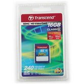 Карта памяти Secure Digital Card 16Gb Transcend  [TS16GSDHC6V]  Class 6 HD Video Retail