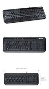 Клавиатура Microsoft Wired Keyboard 600 USB Black (ANB-00018)