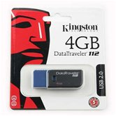 Накопитель Flash USB drive KINGSTON Data Traveler DT112  4Gb RET  черно-синий [DT112/4Gb]