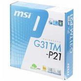 Материнская плата Socket-775 MSI G31TM-P21 (Intel G31/ICH7) mATX  Retail
