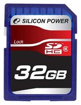 Карта памяти Secure Digital Card 32Gb Silicon Power SDHC Class 6 RET