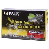Видеокарта Palit PCI-E GeForce with CUDA 9800GT Green 1024Mb DDR3 (256bit) DVI VGA HDMI  Retail