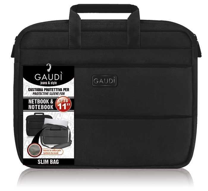 """Каталог, компания INLINE - Сумка Gaudi Slim 11 """" черная."""
