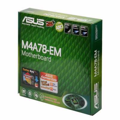 Материнская плата Socket-AM2+ Asus M4A78-EM (HT3 5200/4800, AMD780G + SB700, Integrated VGA, mATX, RTL)