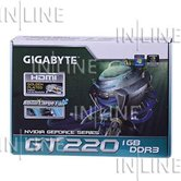 Видеокарта Gigabyte PCI-E (GV-N220OC-1GI) GeForce with CUDA GT220 1Gb DDR3 (128bit) DVI/ HDMI/ Retail