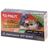 Видеокарта Palit PCI-E GeForce with CUDA GT240 1Gb TC DDR3 (128bit) DVI VGA HDMI  Retail