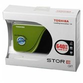 "Внешний жесткий диск 2.5"" Toshiba StorE Art v2 (HDDR640E04EG_CS) 640Gb, 5400rpm, USB 2.0, 8Mb, external, retail, Green"