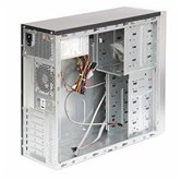 Корпус Foxconn Mid Tower ATX TLA-882 500W (FSP, 12cm fan, SATA), Airduct+2*USB2.0+Reset+80mm Fan, Черно-серебристый