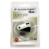 Накопитель Flash USB Drive Silicon Power Touch 820  4Gb White Retail