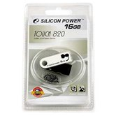Накопитель Flash USB Drive Silicon Power Touch 820  16Gb White  Retail
