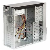 Корпус ASUS TA-8J2/450, ATX middle tower, 450W/2USB/Audio/Airduct/2*Fan, Черно-серебристый