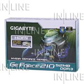 Видеокарта Gigabyte PCI-E GV-N210D3-512I GeForce with CUDA GT210 512Mb DDR3 (64bit) DVI HDMI Retail