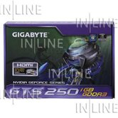 Видеокарта Gigabyte PCI-E GV-N250-1GI GeForce with CUDA GTS250 1Gb DDR3 (256bit) HDMI DVI  OEM