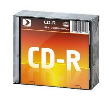 Диск CD-R 700MB Data Standart 52x Slim, 10шт [13210-DSCDR01X]