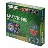 Материнская плата Socket-AM3 Asus M4A77TD-PRO (HT3 5200/4800, AMD770 + SB710, Integrated VGA, ATX, RTL)