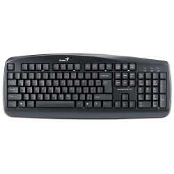 Клавиатура Genius KB-110 (PS/2), black, color box