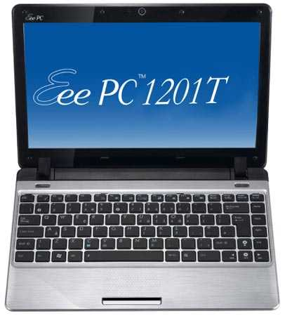 "Ноутбук ASUS EEE PC 1201T 12.1"" WXGA LED/AMD MV40 (1.6Ghz)/2Gb/250Gb/ATI Radeon HD3200/WiFi/6Cell/BT/Web-cam/Win7 Starter  Silver"
