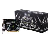 Видеокарта XFX PCI-E GeForce with CUDA GT240 (550MHz) 1Gb DDR3 (128bit) HDMI DVI (GT-240X-ZNFC) Retail