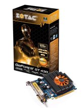 Видеокарта ZOTAC PCI-E GeForce with CUDA GT430 (700MHz) 1024MB DDR3 (128bit) DVI  HDMI  DP (ZT-40602-10L) Retail
