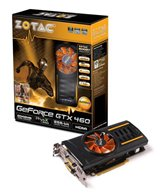 Видеокарта ZOTAC PCI-E GeForce with CUDA GTX460 (710MHz) 2GB DDR5 (256bit) Dual DVI DP HDMI  (ZT-40406-10P) Retail