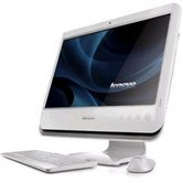 "Моноблок Lenovo IdeaCentre C200-B (57-123425) color: WHITE 18.5"" WXGA/Intel Atom Dual D510/2G/160GB/GMA 3150/DVD RW (SuperMulti)/WiFi/ WebCam 0.3M/Keyboard&Mouse/Win 7 Home Basic"