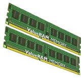 Комплект модулей памяти DDR3 DRAM 4GB (2x2Gb) PC-3 10600 (1333MHz) Kingston [KVR1333D3N9K2/4G] RET