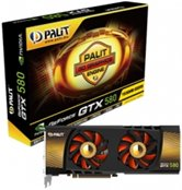 Видеокарта Palit PCI-E GeForce with CUDA GTX580 1536Mb DDR5 (384bit) Dual DVI/ DP/ HDMI/ Retail
