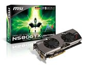 Видеокарта MSI PCI-E N580GTX Lightning GeForce with CUDA GTX580 1536Mb DDR5 (384bit) Dual DVI HDMI DP Retail