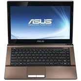 "Ноутбук ASUS K43SJ 14"" HD LED/Intel Core i3 2310M(2.1GHz)/4Gb/320Gb/512Mb nVidia 520M/DVD±RW SM/WiFi/BT/Cam/W7HP/ Dark Brown"