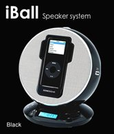 Колонки для Apple iPod/iPhone SonicGear IP8 iBall <10 Вт, ЖК-дисплей, часы, будильник, FM, AUX-In, ПДУ>