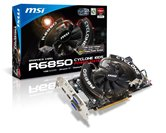 Видеокарта MSI PCI-E R6850 Cyclone 1GD5 PE Radeon 6850 1Gb DDR5 (256bit) Dual DVI DP HDMI  Retail