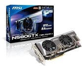 Видеокарта MSI PCI-E N580GTX Twin Frozr II GeForce with CUDA GTX580 1536Mb DDR5 (320bit) Dual DVI miniHDMI  Retail