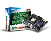 Материнская плата Socket-FM1 MSI A75MA-P35 (AMD A75) mATX  Retail