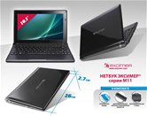 "Нетбук Эксимер® M11-1004 10,1""/Atom N570/2Gb/640Gb/GMA 3150 /WiFi/Bt/3Cell/6Cell/Web-cam/Win 7St/mouse/bag/black"