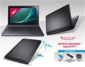 "Нетбук Эксимер® M11-1504 10,1""/Atom N570/2Gb/640Gb/GMA 3150 /WiFi/Bt/3Cell/6Cell/Web-cam/Win 7St/mouse/bag/silver"