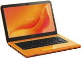 "Ноутбук Sony VPC-CA3S1R/D 14"" HD LED/Intel Core i3 2330M(2.2GHz)/4Gb/500Gb/1Gb AMD HD6630/DVDRW/WiFi/Cam/BT/W7HP/ Orange"
