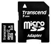 Карта памяти Micro Secure Digital Card 8Gb Transcend   Class6 Retail [TS8GUSDHC6 ]