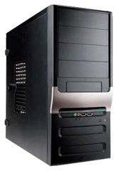 Корпус INWIN EC025BL (Midi Tower, ATX, 450W RB-S450T70, USB+Audio, черный) <6101060>