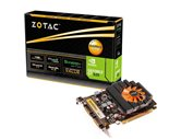 Видеокарта ZOTAC PCI-E GeForce with CUDA GT620 Synergy Edition (700MHz) 1GB DDR3 (64bit) Dual DVI mini HDMI (ZT-60502-10L) Retail