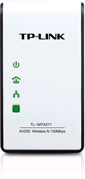 TP-Link Адаптер Powerline Ethernet TL-WPA271, LAN 200 Мбит/с, Wi-Fi  150 Мбит/с