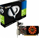 Видеокарта PALIT GeForce GT620 1GB DDR3 TC 64bit 700/1070 VGA/DVI/HDMI (NEAT6200HD06-1086F) RTL