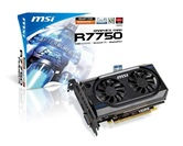Видеокарта MSI PCI-E R7750-PMD1GD5 Radeon 7750 1Gb DDR5 (128bit) DVI HDMI DP  Retail