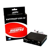 Картридер HighPaq int 3.5 CR-Q004 Black ret