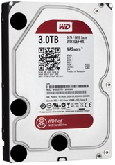 Жесткий диск 3Tb Western Digital WD30EFRX (SATA 6Gb/s, 5400 rpm, 64Mb, NAS Edition) Caviar Red