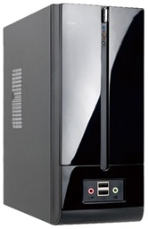 Корпус INWIN BM639BL (Mini-ITX 160W, USB+Audio, Slim Desktop/Tower Mini-ITX, черный, With Slim ODD)