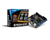 Материнская плата MSI B75IA-E33 / Intel LGA1155 B75 / mini-ITX / RTL